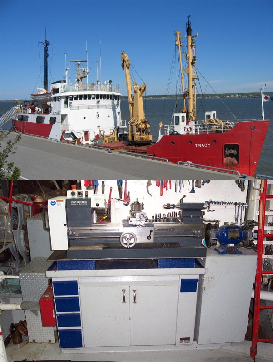 D6000E on a Canadian coastguard ship